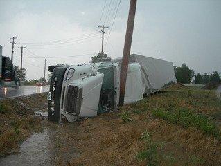 Vrachtwagen ongeluk